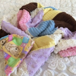 Vintage chenille baby quilt/blanket Boyds Bears