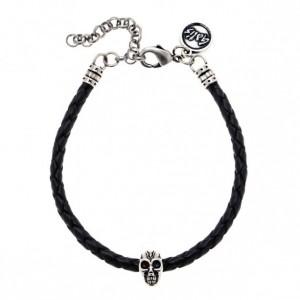 Men Bracelet - Men Skull Bracelet - Men Leather Bracelet - Men Cuff Bracelet - Men Jewelry - Men Gift - Boyfriend Gift - Husband Gift - Male