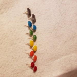 Fused glass stud earrings