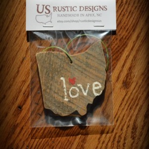 Rustic Custom Ohio Ornament