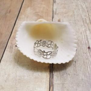 Delicate Floral Sterling Silver Kat Ring
