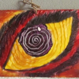 The Eye - Figure Encaustic Wax Art