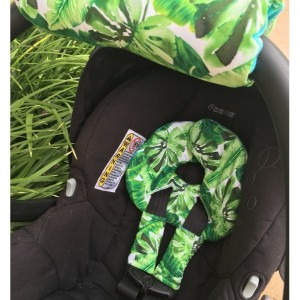 Infant Car Seat Insert,Banana Leaf,Tropical Leaves,Palm Tree,Car Seat Head Support Newborns,Infant Car Seat Strap Covers,Arm Pad Infant Seat