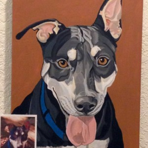 "Freddy - Custom Pet Portrait 12"" x 16"""