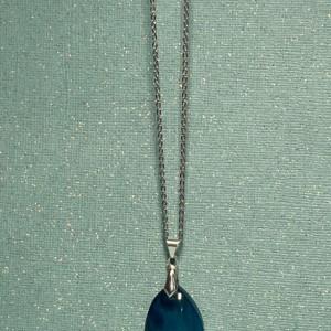 Blue Teardrop Pendant Necklace