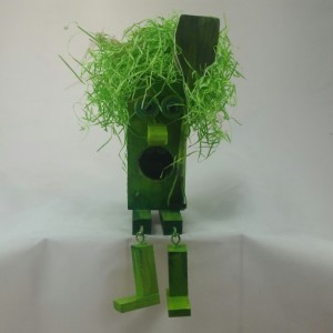 Block Head Character Grass Man