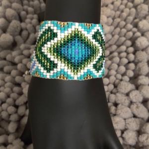 Handmade Ethnic Beaded Loom Bracelet Diamond (22GB)
