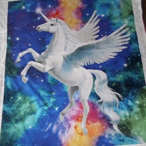 "Unicorn blanket...gift for girl-snuggle blanket-unicorn/minky blanket-48""×55"""