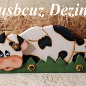 Whimsy Cow Shelf Sitter