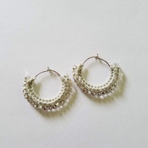 Beaded Crochet Hoops