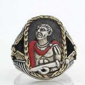 Julius Caesar ring sterling silver