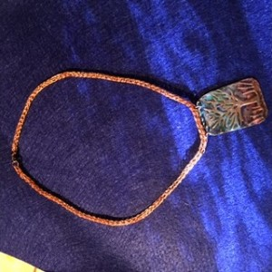 viking knit necklace with tree of life