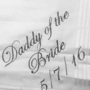 Father of the Bride Daddy of the Bride Wedding Handkerchief, Customized personalised personalized Hankies Wedding Gift