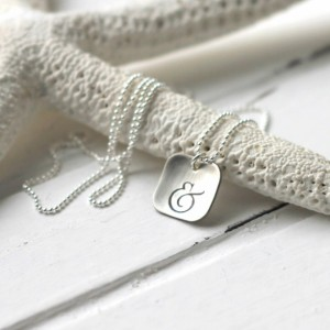 Hand Stamped Sterling Silver Ampersand Necklace