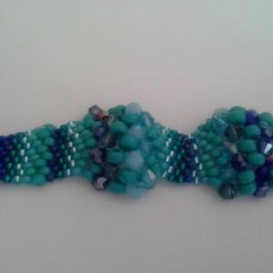 Blue Ocean Peyote Bracelet