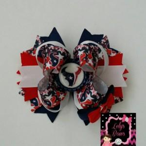 Houston Texans Football Stacked Boutique Hair Bow, Texans bow, Texans clip, Texans football,  Houston Texans, Texans