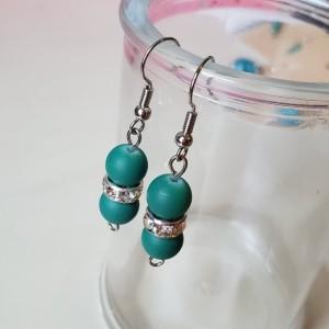 Gorgeous Handmade Teal Drop Dangle Glass Earrings
