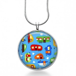 Travel Trailers Necklace - Vacation Jewelry - Travel Pendant