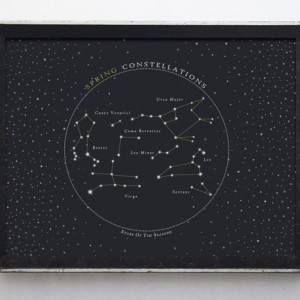 Astronomy Spring Constellations Star Chart Fine Art Print