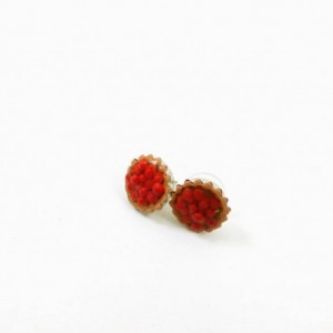 Cherry Tart Earrings with Surgical Steel Posts