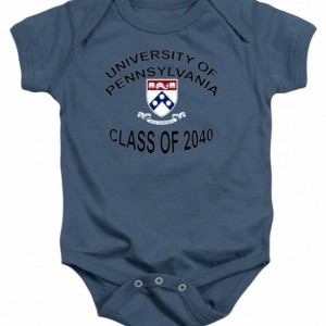 University Of Pennsylvania Class of 2040 Baby One Piece