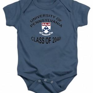 University Of Pennsylvania Class of 2040 Baby Onesie