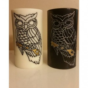 "3x6 ""Owl With Key"" Pillar Candle"