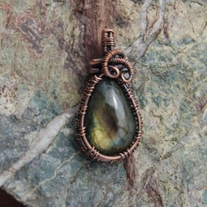 FANCY LABRADORITE PENDANT- Small Spectrolite Necklace for Any Woman!