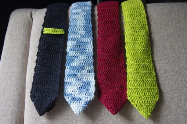 Mens Crochet Necktie In Eye Catching Colors And Patterns Aftcra