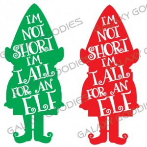 I'm Not Short I'm Tall for an Elf - Ladies 3/4 Sleeve Raglan