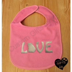 Love Bibs, Custom Baby Bib's, Baby Shower Gift, Christmas Gift, Personalized Gift,
