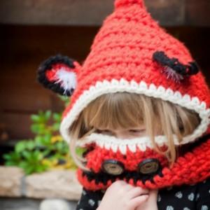 Crocheted Foxy Hooded Cowl