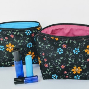 Floral Essential Oil Bag, Roller Ball Bag, Essential Oil Case, Essential Oil Storage, Gift for Her