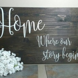 Housewarming Gift - New Home Gift - Our First Home Gift - Large Wood Sign - Rustic Home Decor -  Wood Wall Art - House Warming Gift