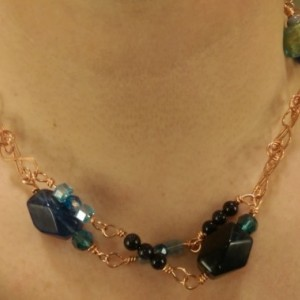 Swirling Blues Necklace