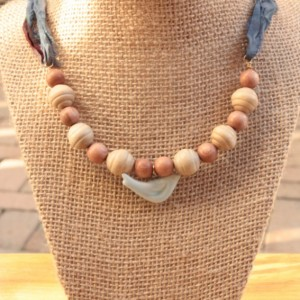 "Summer Necklace, ""Blue Skies Bird"" Necklace, Beach Necklace"