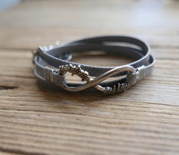 71b56516f7f89 Men Bracelet - Men Infinity Bracelet - Men Jewelry - Men Gift - Present For  Men - Boyfriend Gift - Husband Gift - Friendship Jewelry - Male
