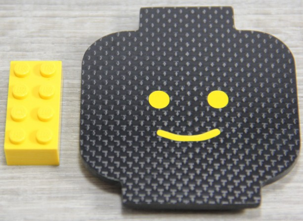 Carbon Fiber Lego Fridge Magnet