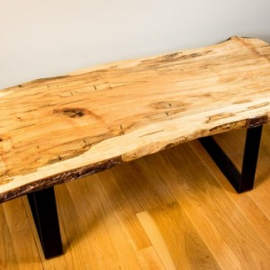 Natural Edge, Live Edge Ambrosia Maple Coffee Table