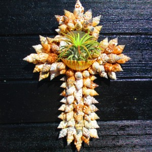 Wall Cross, Gift for Pastor, Gift for Mom, Air Plant Hanger, Air Plant Wall Holder, Air Plant, Baptism gift, Housewarming gift