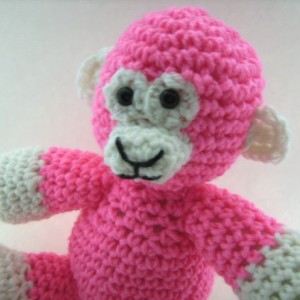 Crochet Pink Monkey Plush Toy