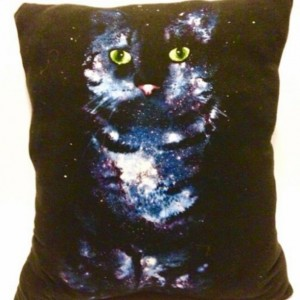 Space Kitty T-shirt pillow
