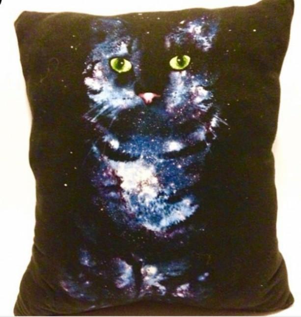 Space Kitty T-shirt pillow