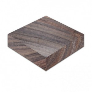 East India Rosewood - Circular Polyhedral Dice Box for Dungeons and Dragons (DnD) or Pathfinder RPGs