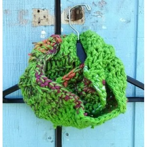 Infinity scarf, crochet scarves, multicolored