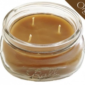 100% Raw Organic Beeswax Jar Candle w/ Lid 8oz