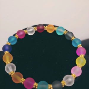 Transparent Multi-Colored Bracelet