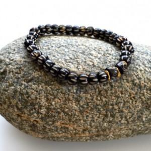 Boho bone bracelet, Bone jewelry, Stretch bracelet, African jewelry, Men jewelry, African  bracelet, Bone bracelet, Beaded bracelet gift
