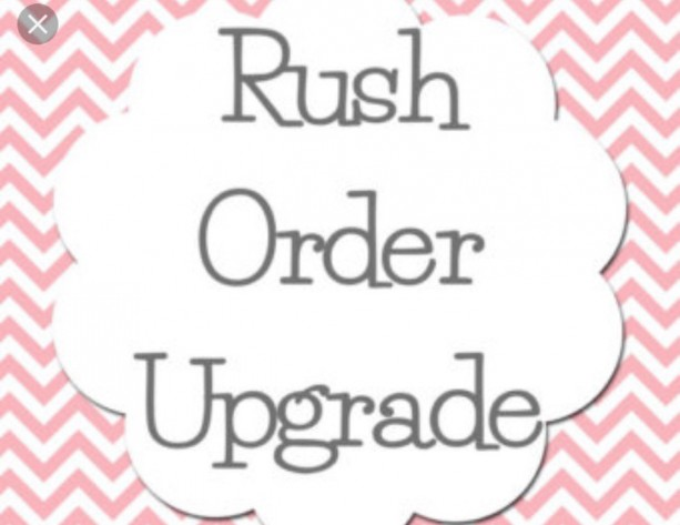 Rush Order, Upgrade, Fast Shipping, Upgrade Order, Fast Processing, Next day order processing