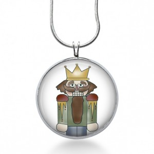 Nutcracker Necklace - Winter Jewelry - Christmas Pendant - Holiday